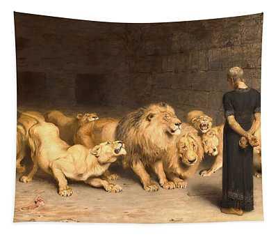 Daniel In The Lion's Den Tapestry