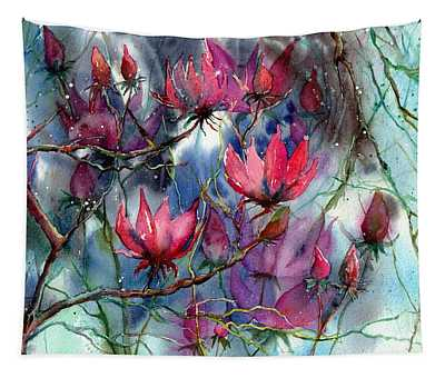 A Blooming Magnolia Tapestry