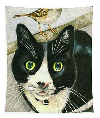 A Cat Named Sparrow Tapestry