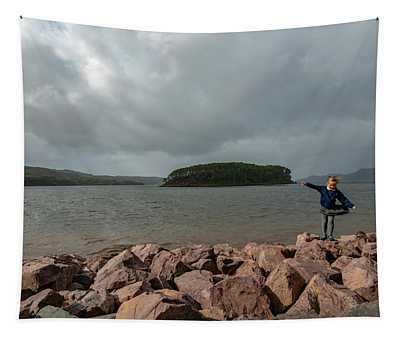 A Charming Little Girl In The Isle Of Skye 1 Tapestry