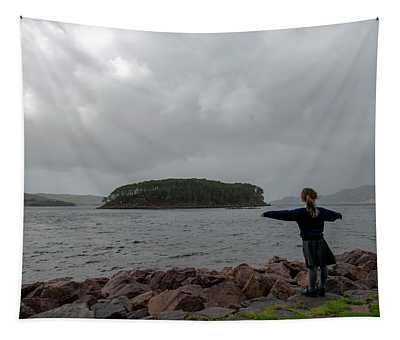 A Charming Little Girl In The Isle Of Skye 2 Tapestry