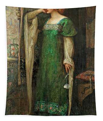 A Damsel In The Tower Tapestry