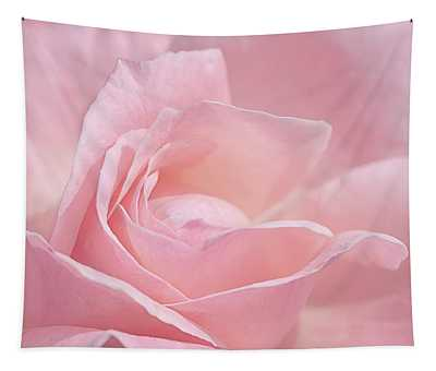 A Delicate Pink Rose Tapestry