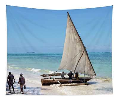 A Dhow In Zanzibar Tapestry