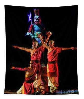 A Die Legende Von Kungfu Proud Moment Tapestry
