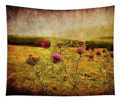 A Field Covered With Mist Tapestry