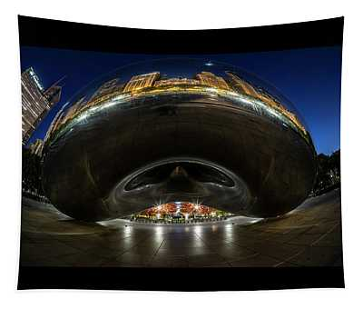 A Fisheye Perspective Of Chicago's Bean Tapestry