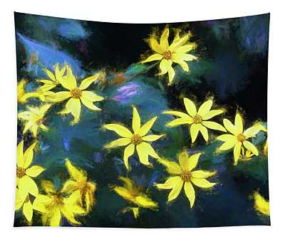 A Galaxy Of Sunflowers In Langdon Woods  Tapestry