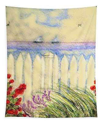 A Garden By The Sea Tapestry