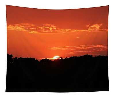 A Golden Sunset  Tapestry