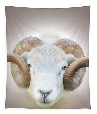 A Little Ram  Tapestry