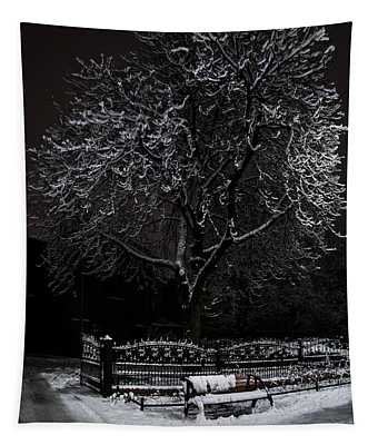 A Lonely Bench Tapestry