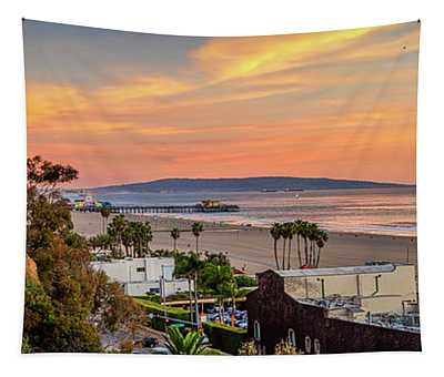 A Nice Evening In The Park - Panorama Tapestry