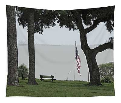 A Nostalgic Patriotic Scenic View From Fairhope Alabama Tapestry