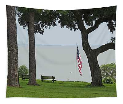 A Patriotic Scenic View From Fairhope Alabama - Color Enhanced Tapestry