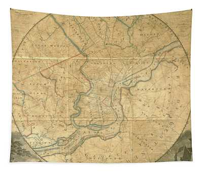 A Plan Of The City Of Philadelphia And Environs, 1808-1811 Tapestry