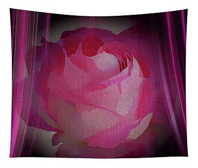 A Purple Rose On Stage Tapestry