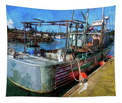 A Real Fishing Boat Tapestry