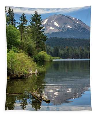 A Reflection Of Mount Lassen Tapestry