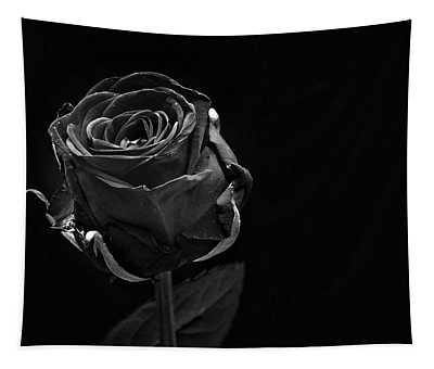 A Single Black Rose Tapestry