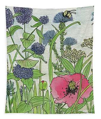 A Single Poppy Wildflowers Garden Flowers Tapestry