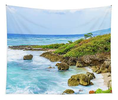 A Slice Of Saint Mary Jamaica Tapestry