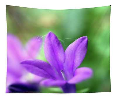 A Small Blue Bell Macro Photopgraph Tapestry
