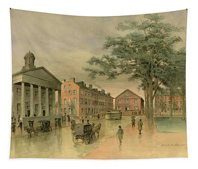 A Southwestern View Of Washington Square Tapestry