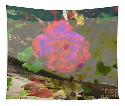 A Splash Of Color Floral Tapestry