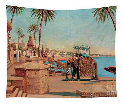 A State Elephant At The Raja, Benares Tapestry