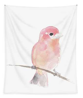 A Sweet Purple Finch Perched On A Wire Tapestry