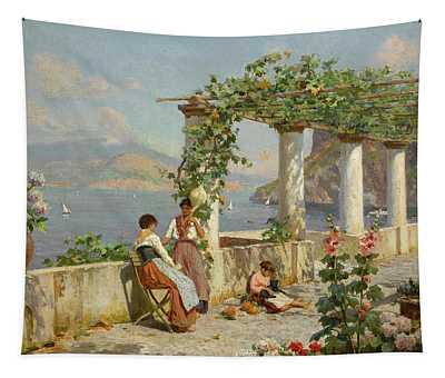 A Terrace On Capri Tapestry