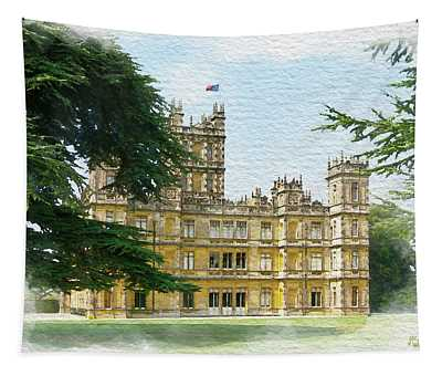A View Of Highclere Castle 2 Tapestry