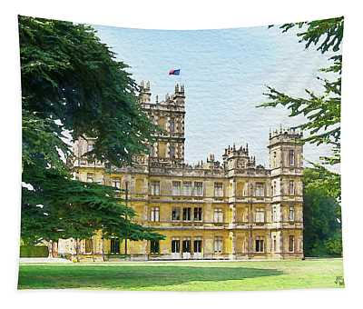 A View Of Highclere Castle 3 Tapestry