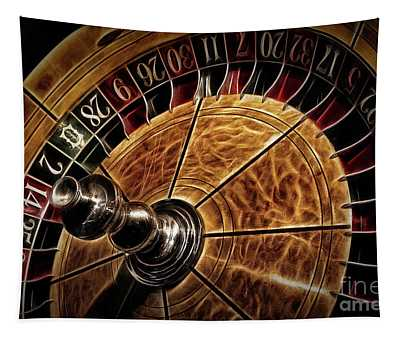 A Virginia City Roulette Wheel Tapestry