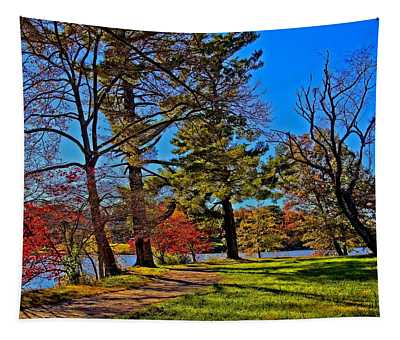 A Walk By The Lake Tapestry