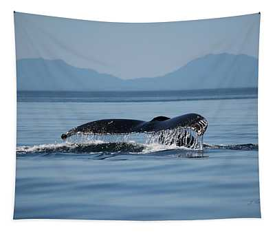 A Whale Of A Tail - Wildlife Art Tapestry