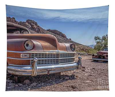 Abandoned Cars In The Desert Tapestry