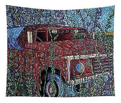 Abandoned Oil Truck  Tapestry