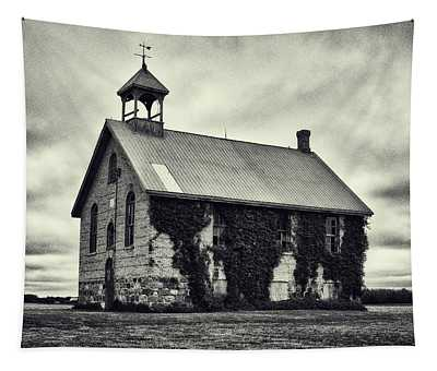 Abandoned Schoolhouse Tapestry