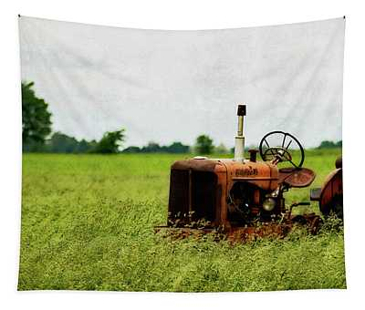 Abandoned Tractor Tapestry