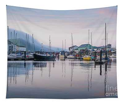 Aberystwyth Harbour In The Eatly Morning Tapestry