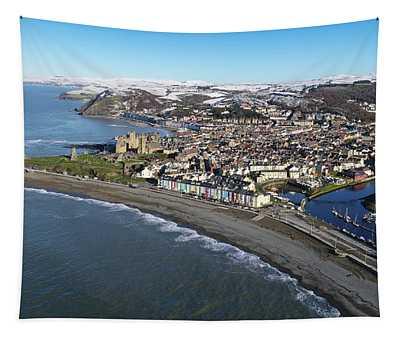 Aberystwyth In Winter Tapestry
