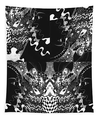 About The I In The Sky - Night Vision Tapestry