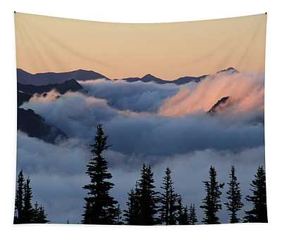 Above The Clouds Sunrise Tapestry