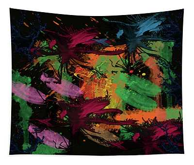 Abstract Action Series 01 Tapestry