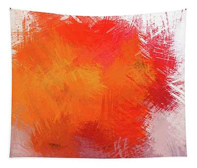 Abstract In Orange 1 - Dwp215490 Tapestry