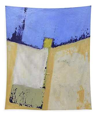 Abstract Blue And Yellow Tapestry
