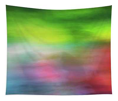 Abstract Blurred Rainbow Lines Background Of Fractal Artwork Tapestry