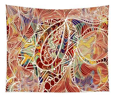 Abstract Bold Colors And Zen Circle Designs Digital Mixed Media By Omaste Witkowski  Tapestry